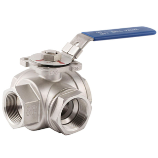 Three Way Screwed Ball Valve